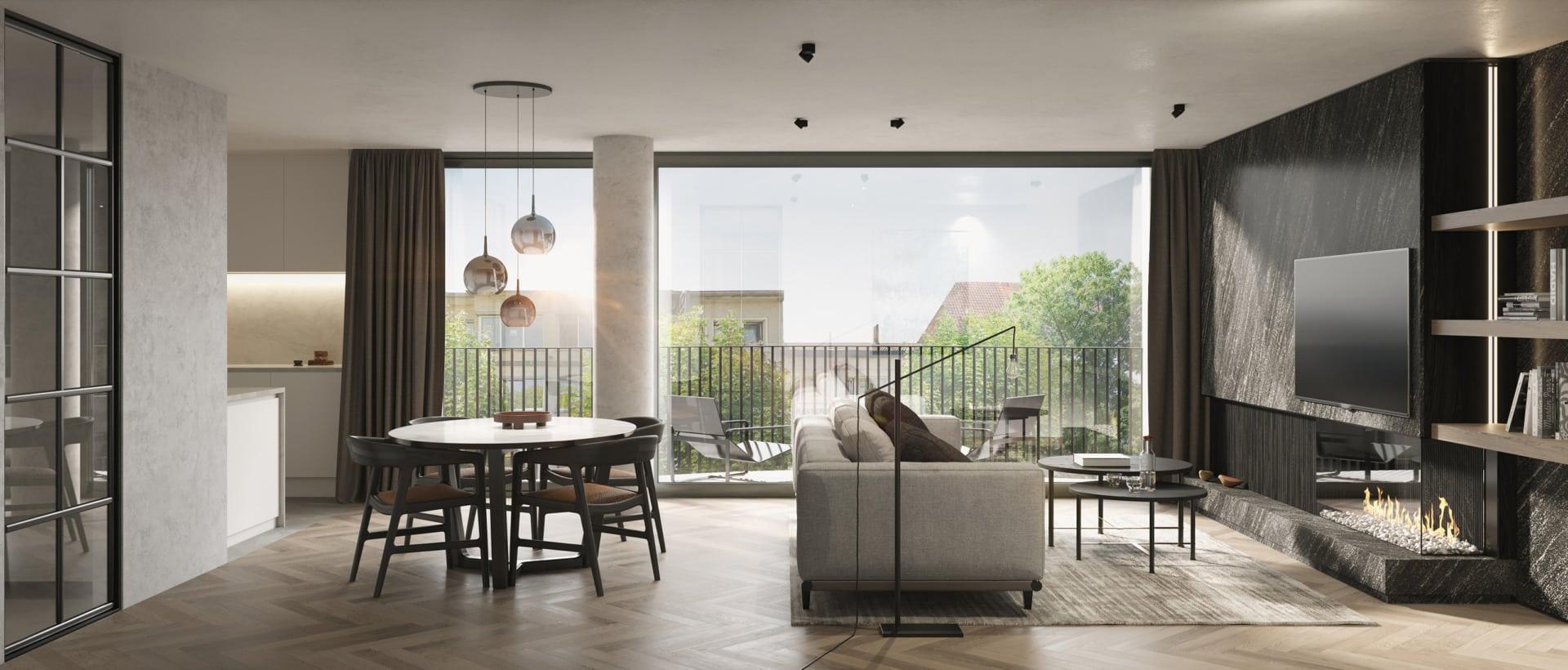 Necchi - 5 appartementen in Zelzate | Realisaties - Strak Bouw bv